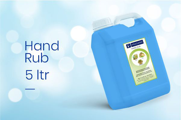Prasand Hand Rub 5 Ltr - Alcohol Based Hand Rub Suppliers